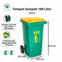 TONG SAMPAH BESAR 100 liter RODA TEBAL/ TEMPAT SAMPAH RODA 100ltr