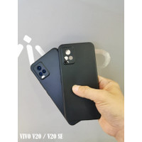 VIVO V20 / V20 SE Camera Protection Soft Case Silicone Cover - Black