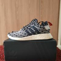 Sepatu Sneaker kasual Adidas NMD R2 Zebra Hitam Putih. Original 100% - Zebra, 42.5