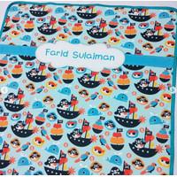 Premium Selimut print nama bayi / selimut custom / selimut bayi - S