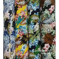Kain Bahan Daster Homedress Gamis Kain rayon motif Rainforest