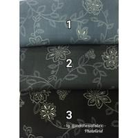 Kain Katun Tokai Rayon Twill Tencel Japan Design motif Dark Series
