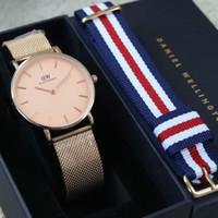 jam tangan pria WD rantai pasir pengait rosegold semipremium