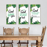 RD014 FRAME GOD ALWAYS WITH YOU QUOTE 60X90 WALLSTICKER STIKER DINDING