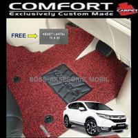 Karpet Comfort Premium Khusus CRV Turbo 3 Baris + Bagasi