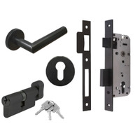 Set Black Series Dekkson Handle + Body Mortise + Kunci Silinder Knob