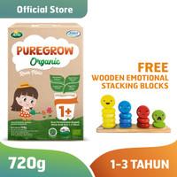 PUREGROW Organic 720g Girl Version Fee Wooden Emotional Stacking Block