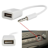 Kabel Audio OTG jack 3.5mm male aux to USB Cable Connector NEW