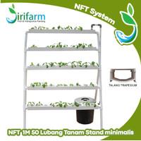 Jirifarm Paket Tanam Hidroponik NFT STAND Minimalis 1 Meter 50 Lubang