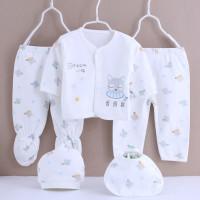 [Paket 5pcs] Perlengkapan Bayi Baru Lahir Baju Newborn Gift Set Cat - Biru