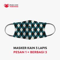 Masker Kain 3 Lapis (3 Ply) Earloop - Desain oleh Argyle & Oxford