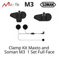 Maxto M3 Intercom Helm Soman M3 Clamp Kit Set Helm Full Face Part