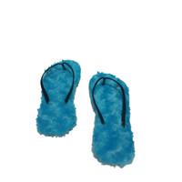 Sandal Wanita Bulu - Biru, 36