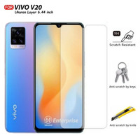 VIVO V20 / V20 SE Clear Transparent Tempered Glass Screen Guard Kaca