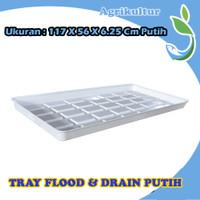 Hidroponik Flood And Drain Tray 117x56x6.25 Cm Putih