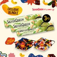 SilverQueen Green Tea x Liunic (isi 3 + FREE masker Liunic)