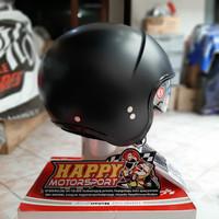 Helm Halfface NOLAN N21 CLASSIC 010 FLAT BLACK Original