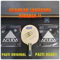 Bat Pingpong Donic Waldner Legend Carbon lengkap karet Acuda Set