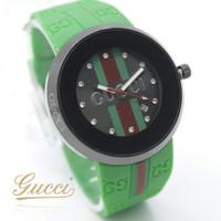 Jam tangan wanita Gucci rubber tanggal aktif size 4cm kualitas premium