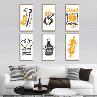 RD RD015 FRAME QUOTE KITCHEN COOKING 60X90 WALLSTICKER STIKER DINDING