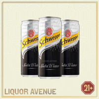 Schweppes Soda Water / Air Soda Can 330ml - 3 Kaleng