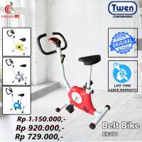 Sepeda Statis Fitness Twen Belt Bike New Arrival BB379 Pembakar Lemak