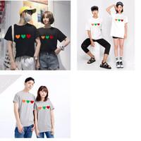 Kaos Couple Triple Love M L XL