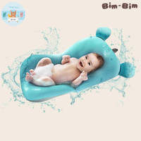 Baby Bather Cushion Bean Bag alas mandi bayi empuk seperti kasur - Biru Muda
