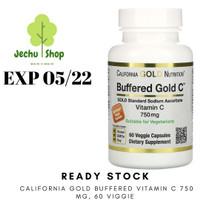 [READY STOCK] CALIFORNIA GOLD BUFFERED VITAMIN C 750 MG, 60 VIGGIE