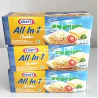 KRAFT Keju Cheddar Cheese Kraft ALL IN 1 ALL IN ONE 500 gr