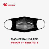 Masker untuk Indonesia x JED Creative - Kain Scuba Full Printing