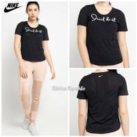 Nike Woman JUST DO IT Sport Tee Baju Atasan Olahraga Wanita Cewek ORI - XS