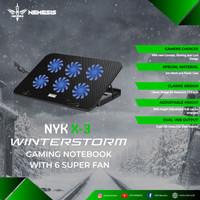 promo Cooling Pad gaming 6 Fan nyk x3 adem fan cooler laptop 6 fan