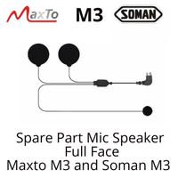 Maxto M3 Bluetooth Intercom Helm Soman M3 Mic Speaker Full Face Part