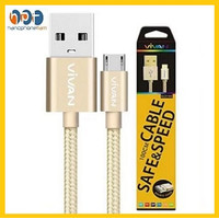 Kabel Data VIVAN GMD100 Micro USB Data Cable For Android 1 Meter