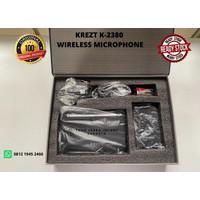 KREZT K-2380 Professional Wireless Microphone Clip On (Jepit)