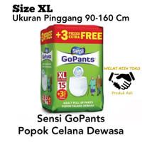 Pampers Sensi GoPants Popok Celana Dewasa UKURAN XL Original Asli Mrh