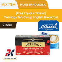 [GRATIS Equals] Twinings Teh Hitam Celup English Breakfast 25X2gr