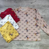 kaos wanita lengan panjang import murah motif mickey terbaru