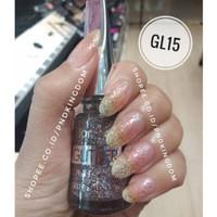 GL15 Red in Silver ~ Kutek Glitter / Kutek Halal Flormar
