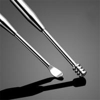 Korek Kuping Stainless Steel 3in1 Ujung Spiral Pembersih Telinga