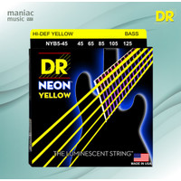 DR Strings NYB5-45 (Senar Bass Elektrik, 5 Senar, 45-125, Neon Yellow)