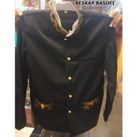 baju beskap sunda basofi bordir warna hitam
