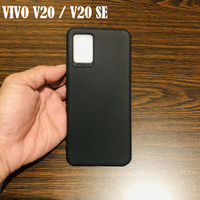 Vivo V20 2020 Black Matte Slim Soft Case Silicone Cover Jelly Tpu