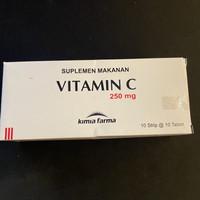 Vitamin C 250 mg Kimia Farma isi 100 tablet
