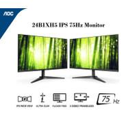 AOC 24B1XH5 24 Inch Super Slim Monitor - IPS FHD 75Hz 8ms