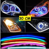 LAMPU LED ALIS NEON 30CM DRL FLEXIBLE FLEKSIBEL MOTOR MOBIL 30 cm PCS