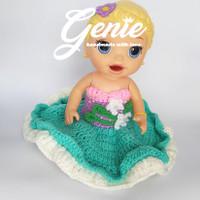 baju boneka baby alive princess ariel