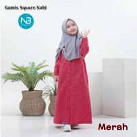 Gamis Square Anak 12 14 Tahun Baju Muslim Katun Kotak Perempuan Nubi
