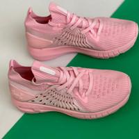 sepatu wanita under armour full pink